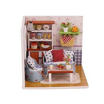 Amazon.es: Toyvian Casa de muñecas en Miniatura Mini Casa de ...