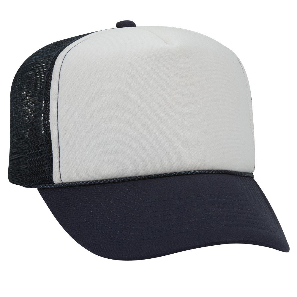 c5f51484 Amazon.com: IGC Blank Trucker Hat/Cap - Baseball, Golf, Fishing - Navy Blue/ White Front Panel: Kitchen & Dining