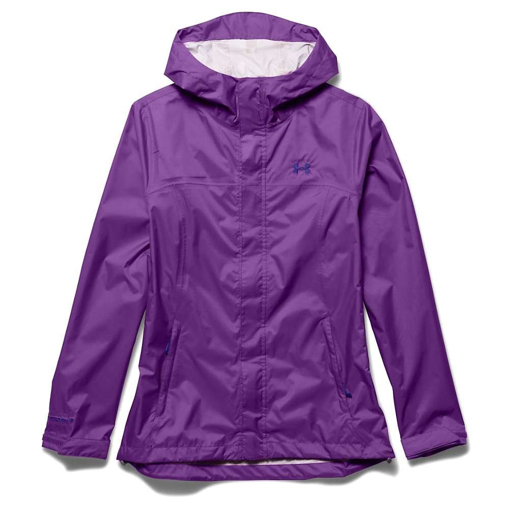 Under Armour Women's Storm Surge Waterproof Jacket Mega Magenta/White Size Small