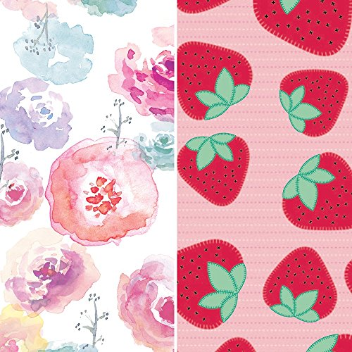 The Honest Company Club Box - Size 4 - Rose Blossom & Strawberries Print with TrueAbsorb Technology Plant-Derived Materials Hypoallergenic 60 Count