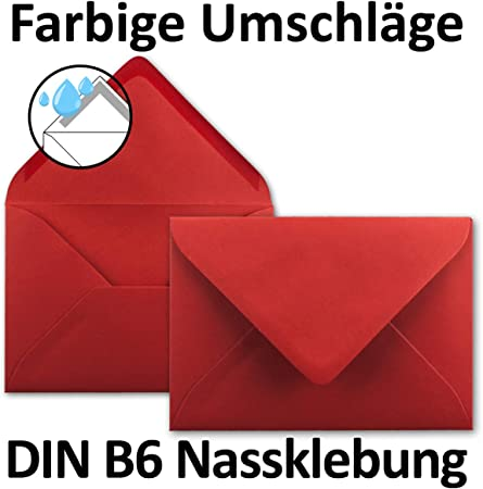 115 x 170 mm color rojo oscuro FarbenFroh by Gustav Neuser Juego de 50 tarjetas plegables DIN B6 11,5 x 17 cm