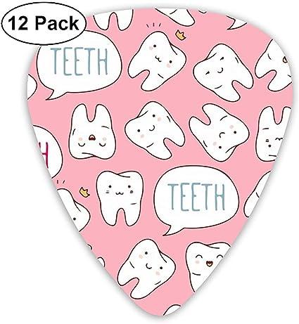 Kawaii Dentist Teeth 12 Pack Púas de guitarra, guitarras eléctricas y acústicas: Amazon.es: Instrumentos musicales