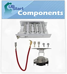 279838 And 279816 Dryer Heating Element and Thermostat Combo Pack Replacement for Whirlpool SEDX600JQ1 Dryer - Compatible with 279838 & 279816 Heater Element & Thermal Cutoff