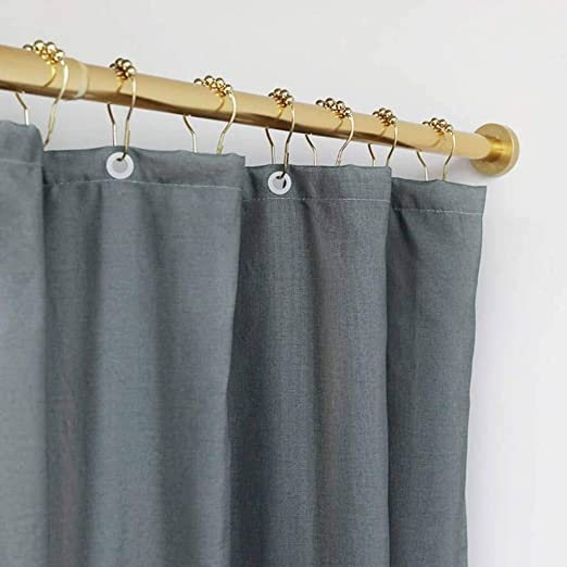 Gold Black Telescopic Shower Curtain Pole for Bathroom and Shower Color : Black, Size : 50-75cm Metal Tension Rod with No Drilling Shower Curtain Rail