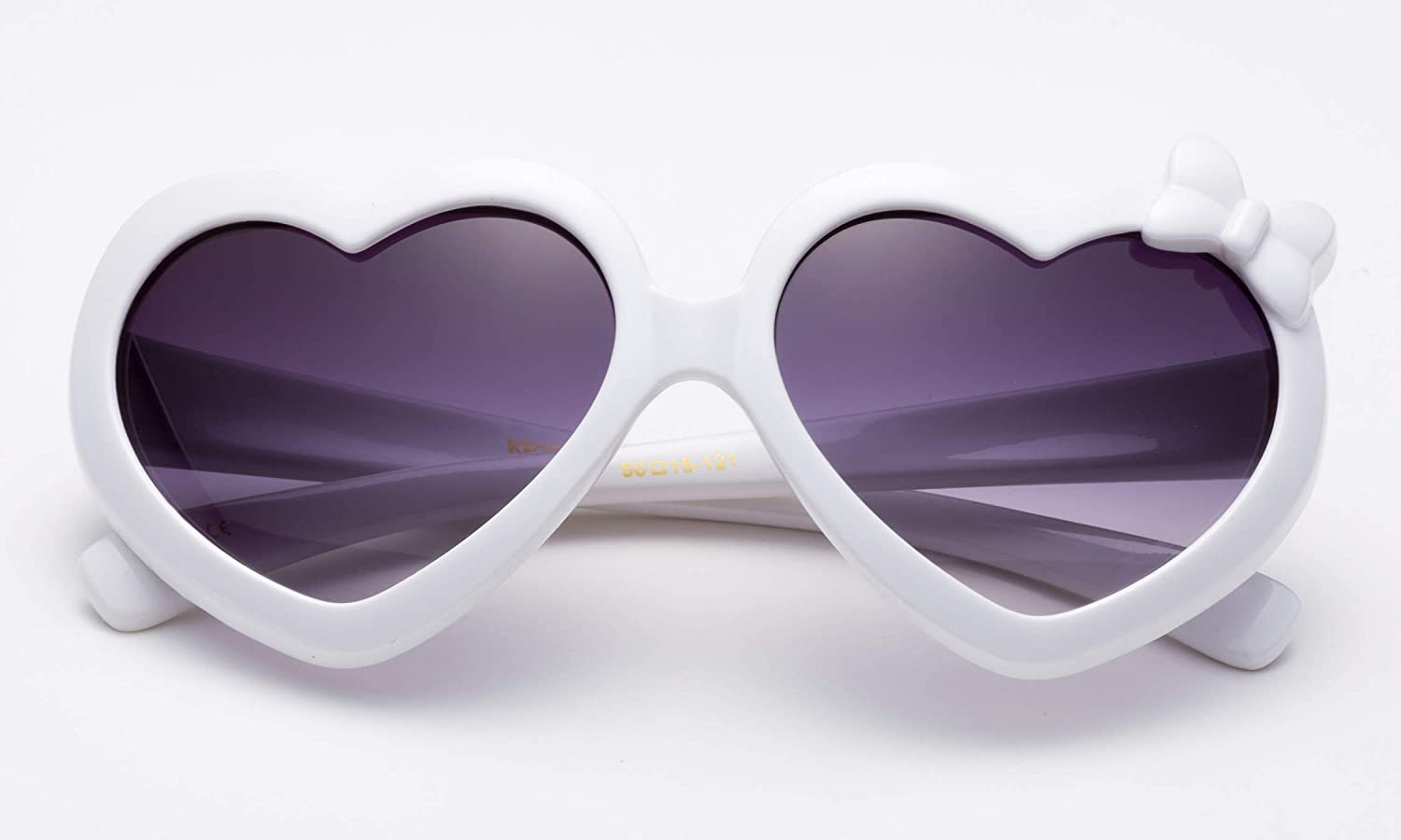 Girls Heart Sunglasses with Bow Cute Heart Shaped Sunglasses for Girls
