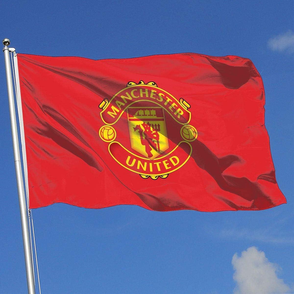 Bandera de jardín con Bandera del Real Madrid/Manchester United/Juventus/Chelsea/Barcelona/Arsenal FC, 3 x 5 pies: Amazon.es: Jardín