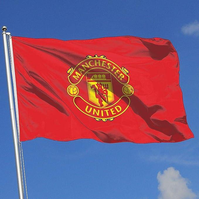 Bandera de jardín con Bandera del Real Madrid/Manchester United ...