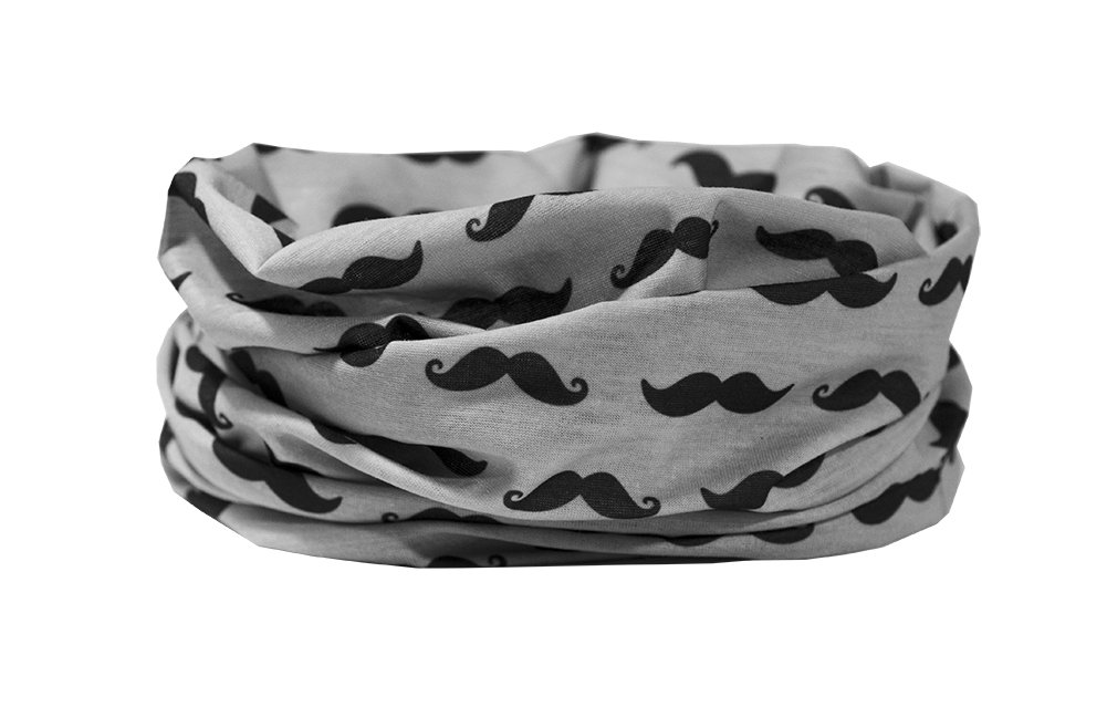 RUFFNEK Diseño de bigote–Calentador de Cuello, máscara de esquí, cabeza bufanda Multifuncional Bufanda/Snood–talla…