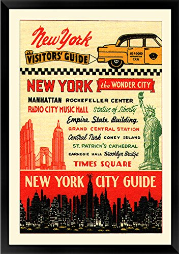 Visitors Guide New York City 1930's Framed Poster