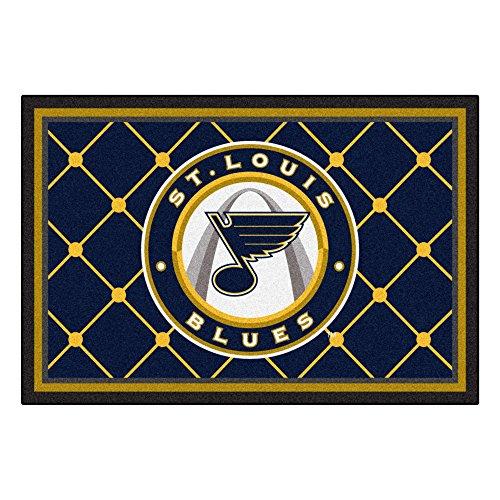 FANMATS NHL St Louis Blues Nylon Face 5X8 Plush Rug ()