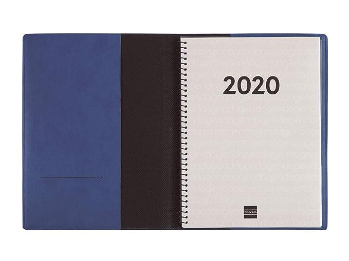 Finocam - Agenda 2020 semana vista apaisada DuoBand Azul ...