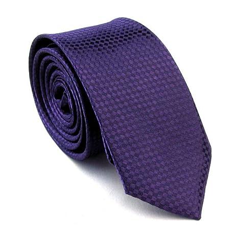 FDHFC Corbatas Mariquitas De Corbata Azul Marino Slim Tie para ...