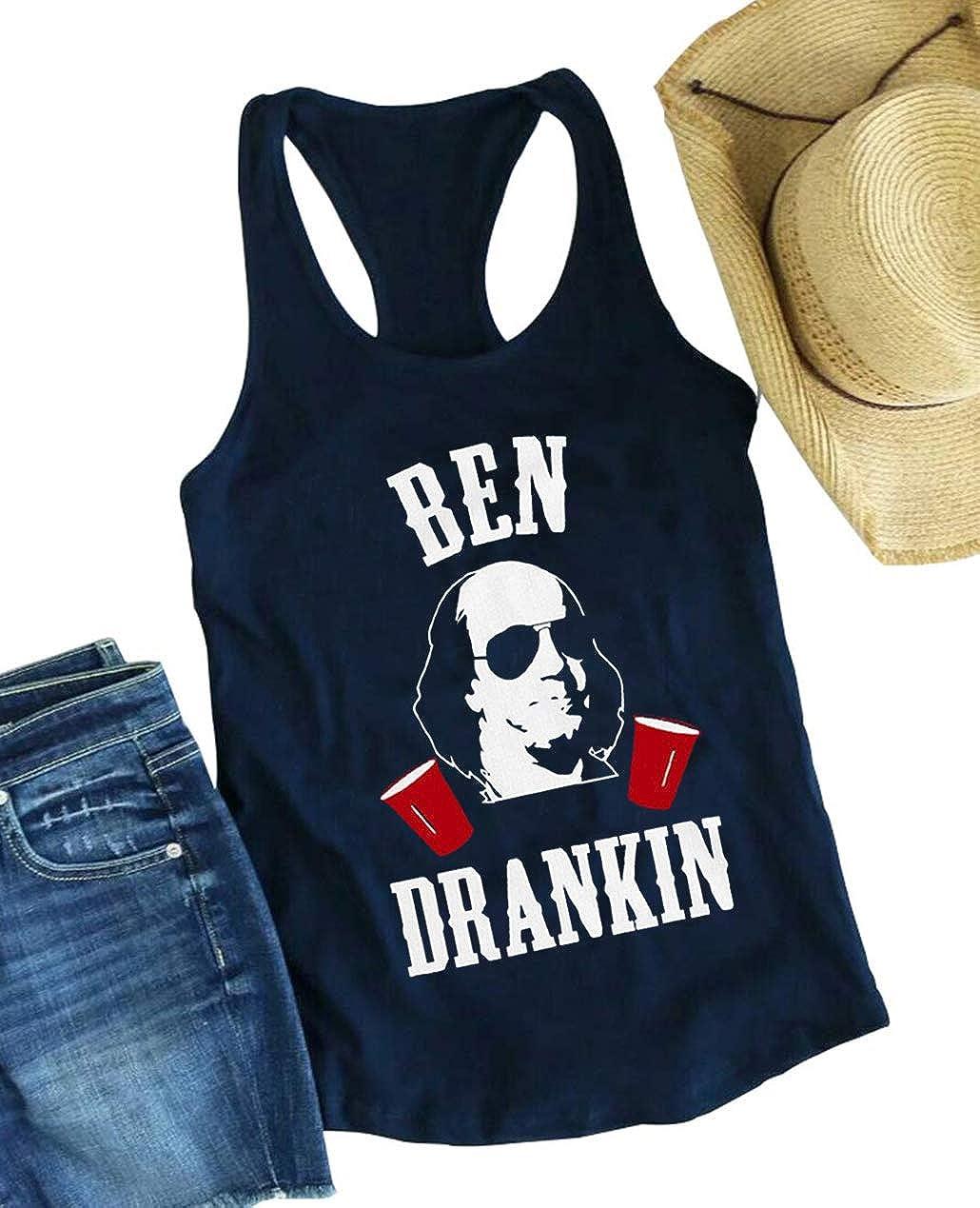 Drinkin Like Lincoln Tank Top Funny drunk July 4th patriotic Sleeveless Shirts