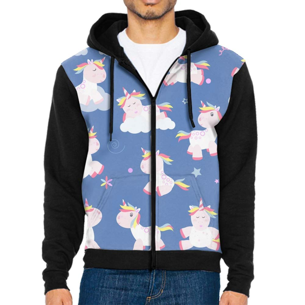 Cute unicorn1 XXLarge Sweaters 3D Print Cute Unicorn Magic Baby Zipper Harajuku Punk Hooded Sweatshirts