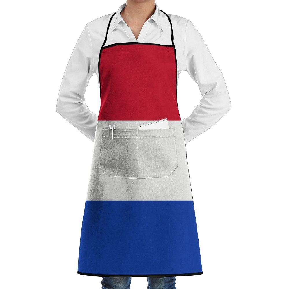 Dutch Flag Bib Apron With Pockets For Women And Men