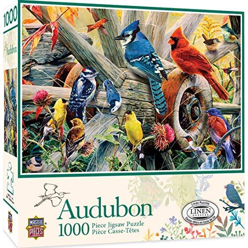 MasterPieces Audubon Linen Jigsaw Puzzle, Backyard Birds, 1000 Pieces