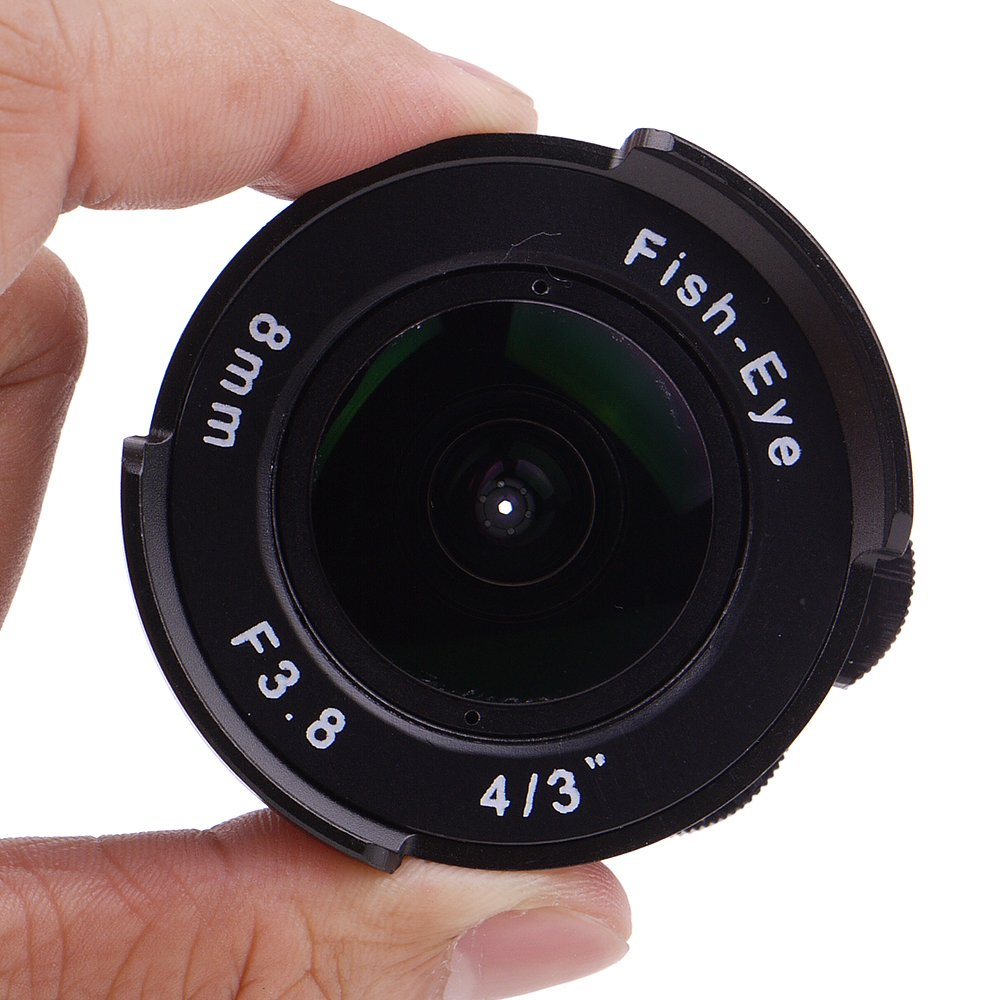 Pixco 8 mm f3.8 Fish - Eye CCTVレンズCマウントカメラ用、8 mmfisheye F / 3.8、広い角度焦点距離Fish Eye Lens   B073ZCCM5H