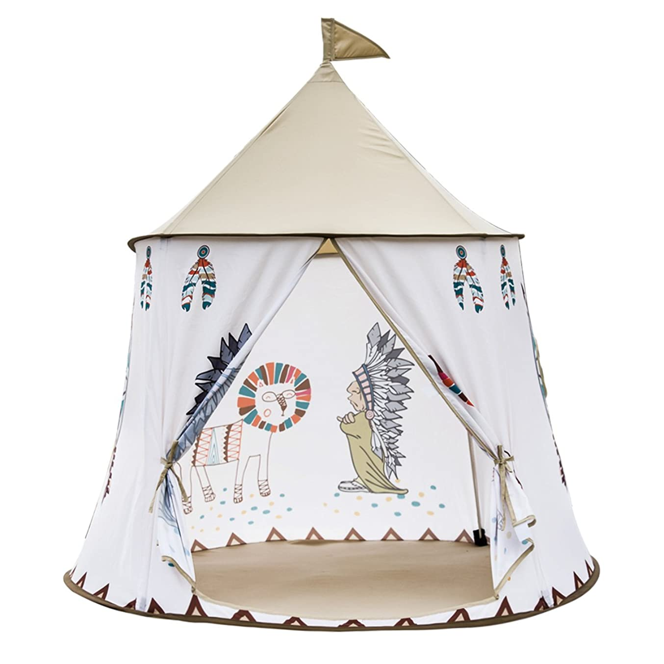 バウンド乳白速い子供用テント ハウステント キッズテント 折り畳みテント おもちゃハウス  クリスマス お誕生日 お出産祝いプレゼント (青い)