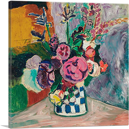 (ARTCANVAS Still Life of Peonies in a Vase 1907 Canvas Art Print by Henri Matisse- 26