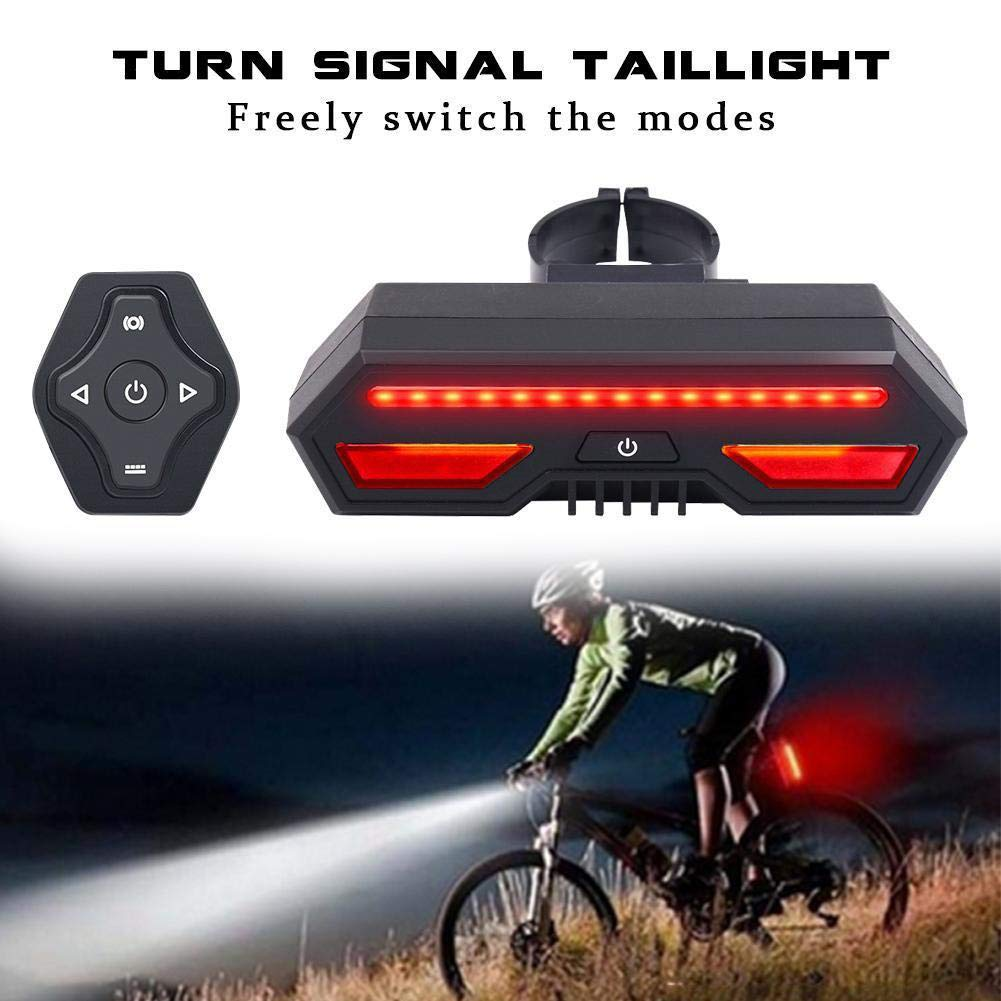 angel3292 Clearance Deals!!Bicycle Rear Laser LED Turn Signal Light Remote Control USB Safety Tail Lamp