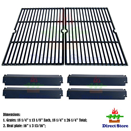Direct store Parts Kit DG232 Replacement Charbroil, Kenmore, Coleman,Gas Grill Repair Kit Heat Plates & Cooking Grill (Porcelain Steel Heat Plate + Porcelain Cast Iron Cooking (Charbroil Grate)
