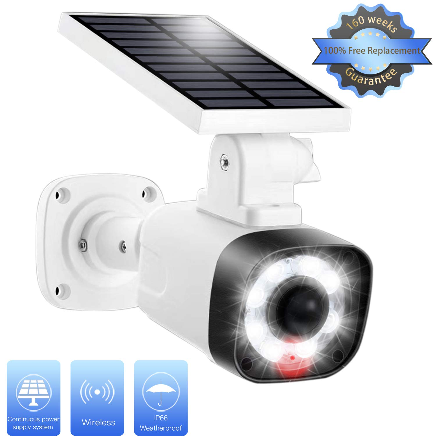 Solar Light Outdoor Motion Sensor – 3 Modes Selection, 20 in Solar Panel IP66 Waterproof, 8 LED Spotlights w 800LM Security Flood Light for Garden Porch Driveway