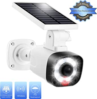 Solar Light Outdoor Motion Sensor-3 Modes Selection, 8 LED w/800LM, 20 in² Solar Panel IP66 Waterproof, Security Flood Light for Garden Porch Driveway