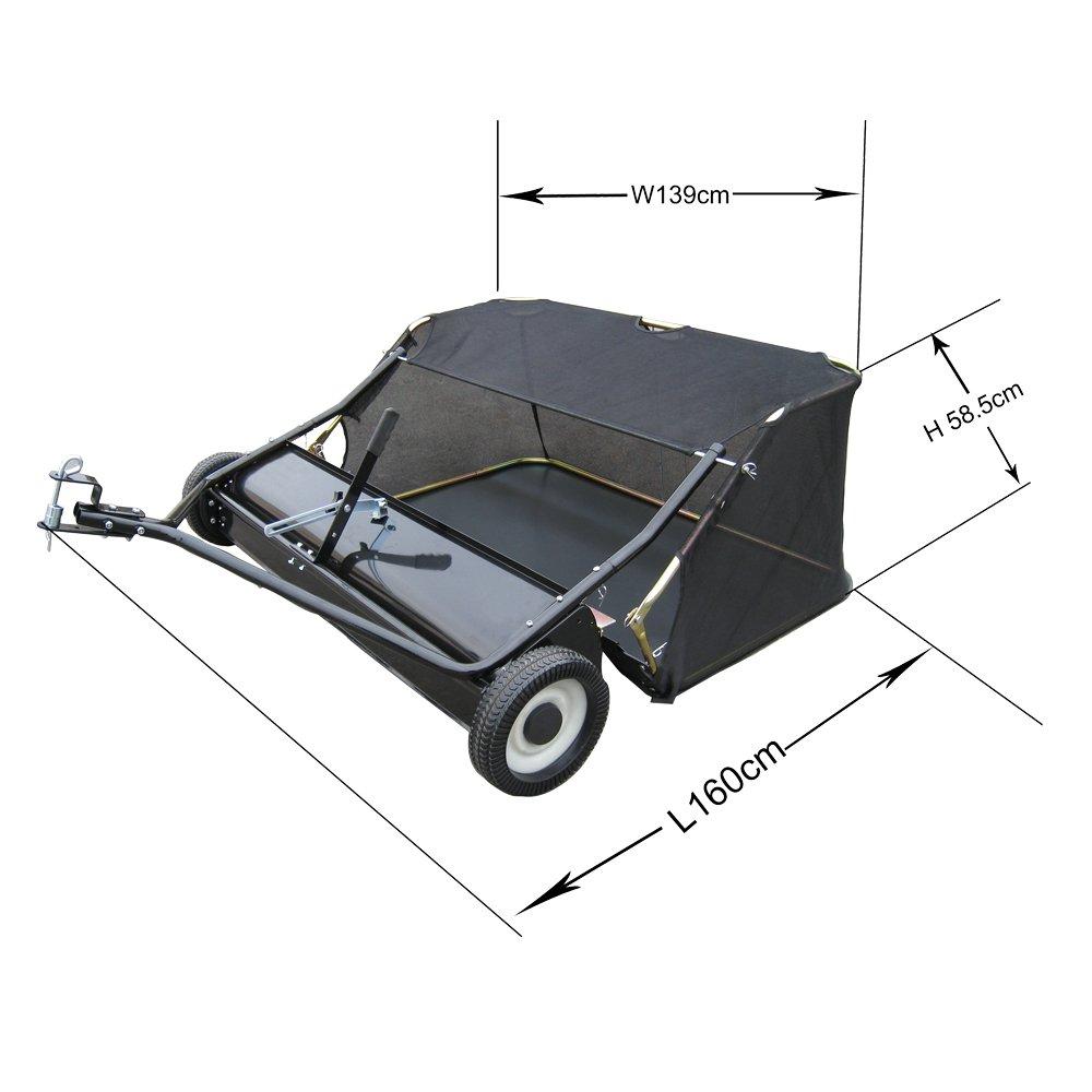 WilTec Barredora de césped 120 cm para segadora o Tractor jardín ...