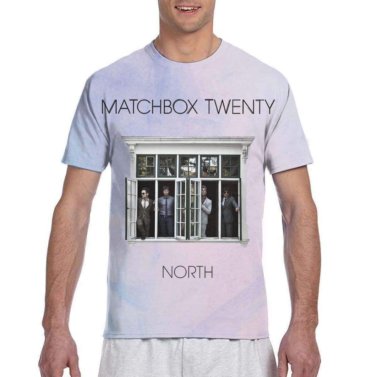 MAYAL Mens Matchbox Twenty North 3D Printed Short Sleeve Tshirt Black