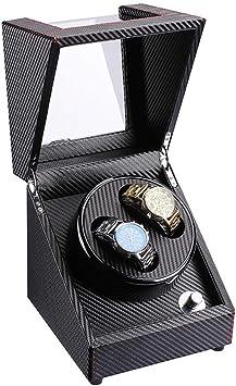 XUNMAIFWT Cargador para Relojes Automáticos, Cajas para Relojes, Estuche Bobinadora para 2 Relojes, 4 Tipos de Modos, Motor Silencioso, Madera Caja: Amazon.es: Deportes y aire libre