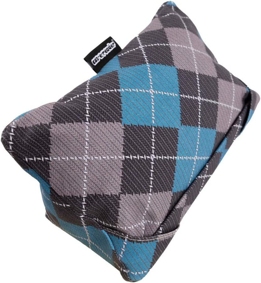 i-Pad Cushion and Tablet Pillow in Argyle Print.2 Viewing Positions for your Device
