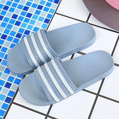 Verano Antideslizante Estancia Parejas Verano Zapatillas Suave 44 Cool 43 Home Cubierta Hembra fankou Baño Gris Inferior Zapatillas y Macho Baño wq6Rvv4X