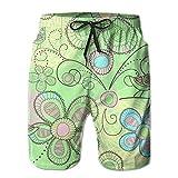 Youth Swim Trunks Bird Flower Fine Quick Dry Beach Board Shorts