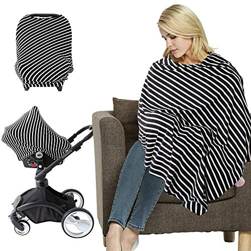 LifeTree Multi-Use Nursing Cover Poncho   Breastfeeding Cover   Shopping Cart Cover   Maternity Top   Baby Car Seat Cover Canopy