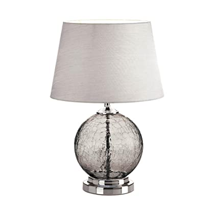 Amazon.com: Table Lamps, Gray Cracked Glass Living Room ...