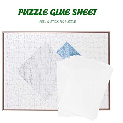 InKach Puzzle Glue Sheets, Clear Jigsaw Puzzle Glue 4/8/20-Sheets Practical Puzzle Preserver Glue Save A Puzzle Glue (8-Sheets): Toys & Games