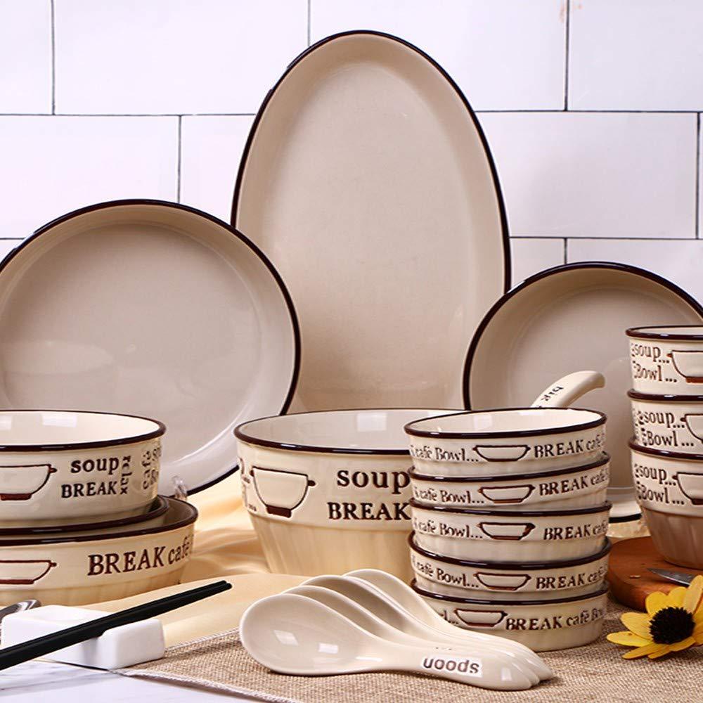 Cubiertos set platos platos platos vajilla hogar vajilla ...