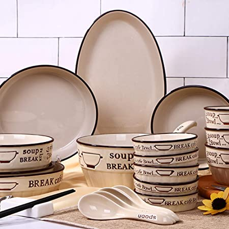 Cubiertos set platos platos platos vajilla hogar vajilla plato de ...