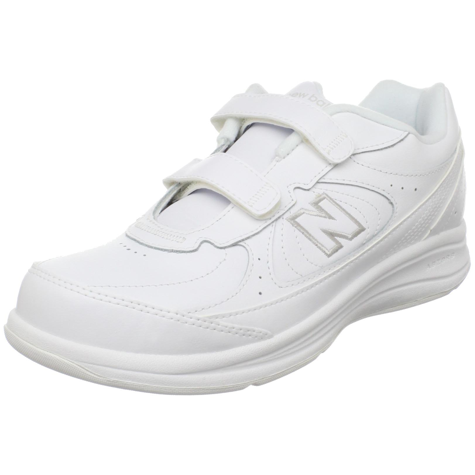 ''New Balance Women's WW577 Walking Velcro Shoe,White,8 D US'' by New Balance