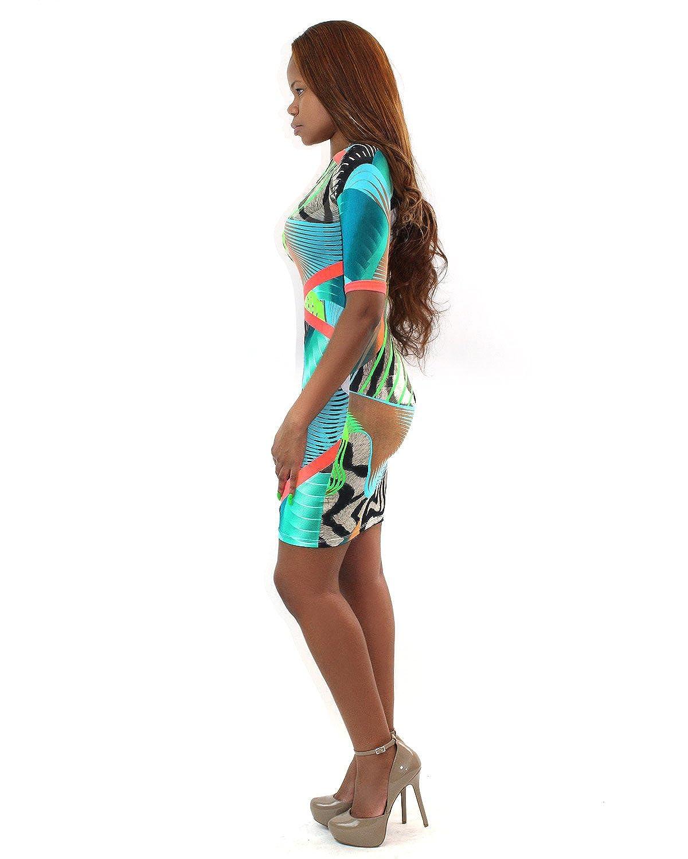 7TwentyFour Neon Accent Safari Dress - Junior Size