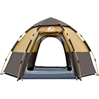 Hewolf Camping Tents 2-4 Person [Instant Tent] Waterproof [Double Layer] [Quick Set up] Family Beach Dome Tent UV…