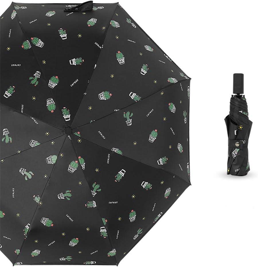 JUNDY Paraguas portátil Mini Plegable Resistente al Viento – Duradero Paraguas de Viaje Tríptico Lluvia y Lluvia Doble Uso Protector Solar Paraguas Plegable color3 98cm: Amazon.es: Hogar