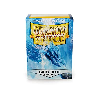 Arcane Tinman Dragon Shield: Matte Baby Blue - Box of 100 Sleeves, Standard: Toys & Games