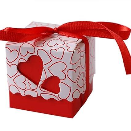 Caja regalo BLTLYX 100 Unids Amor Corazón Caramelo Cajas Boda ...