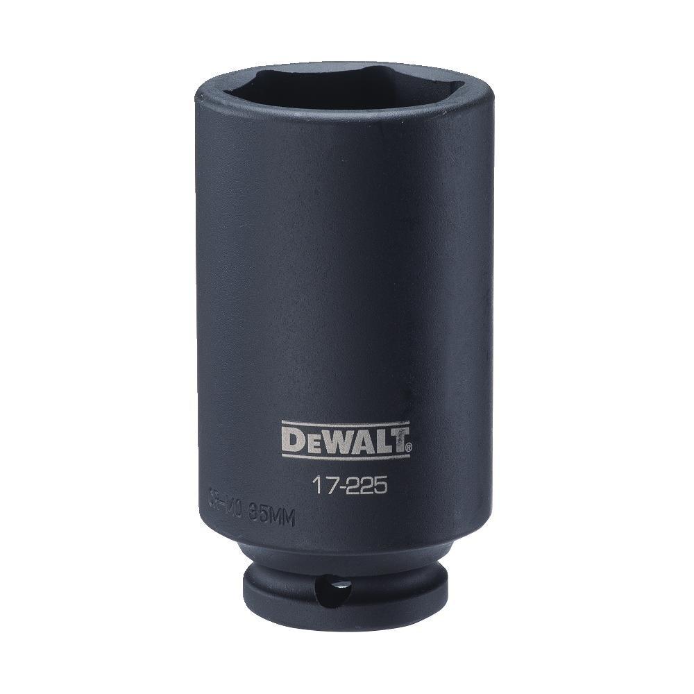 DEWALT 1/2'' Drive Impact Socket Deep 6PT 35MM