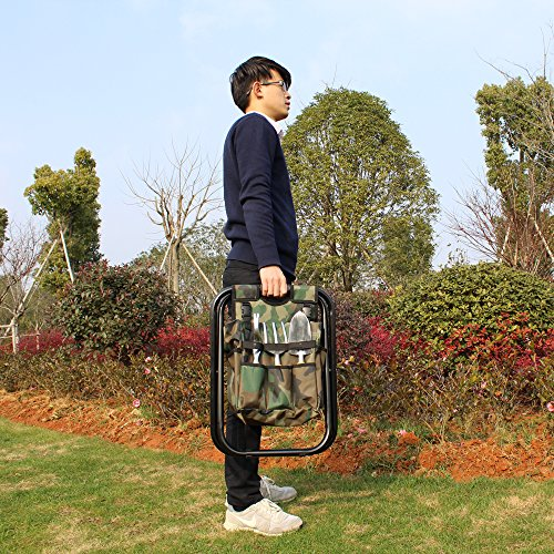 sornean Garden Folding Seat with Detachable Tote,without Tools-Best Gift for Gardeners by sornean (Image #2)