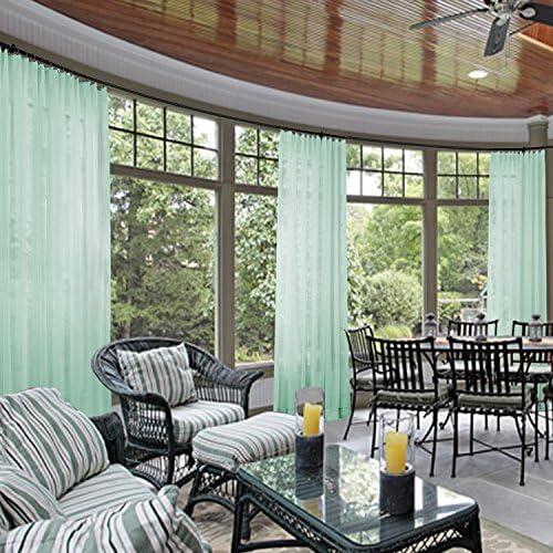 Cololeaf - Cortina para interiores y exteriores, para patio, porche, Gazebool, pérgola y cabana, dock, playa, casa,