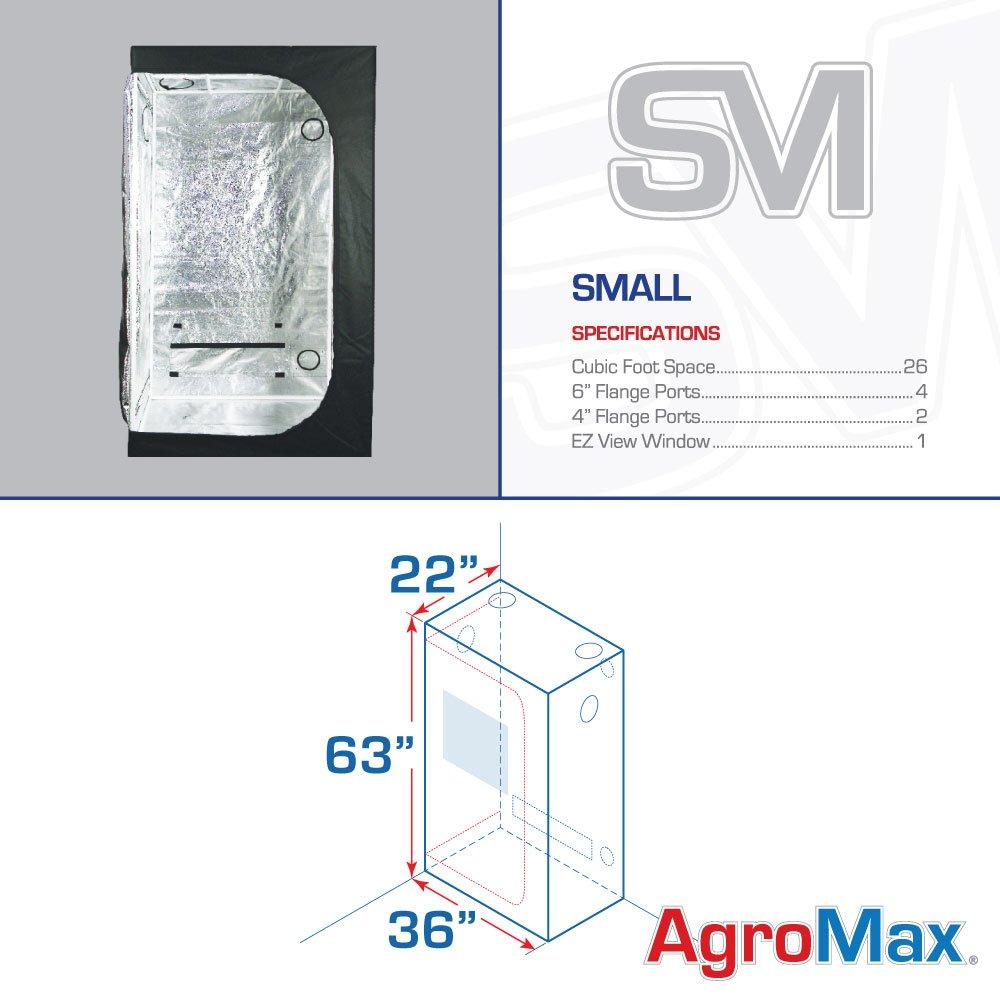 Amazon.com  AgroMax Small 2 x 3 (36 x22 x63 ) Professional Grow Tent  Garden u0026 Outdoor  sc 1 st  Amazon.com & Amazon.com : AgroMax Small 2 x 3 (36