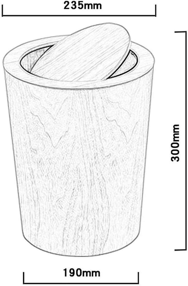 おむつゴミ箱オフィスのゴミ箱は、蓋ビッグ容量キッチンゴミ箱オフィスゴミ箱木製ごみ箱ホームベッドルームごみ箱を有する蓋のゴミ缶、創造和風ごみバケツスイング (Color : A)