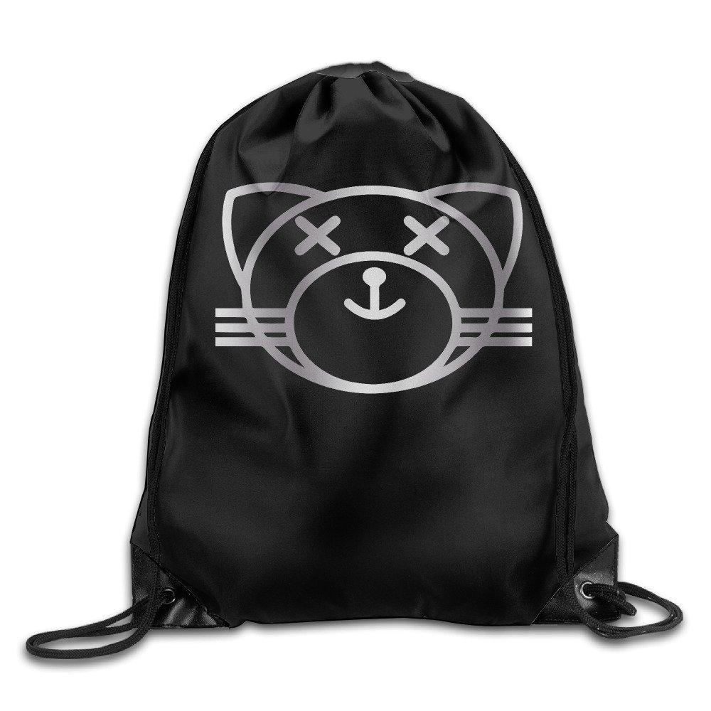 Kiss Land Cat XO The Weeknd Platinum Logo GYM Drawstring Backpack Bag VOVNDO.Co